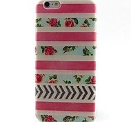 Flowers Pattern TPU Material Soft Phone Case for iPhone 6