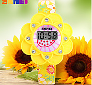 skmei® Kinder Digitaluhr Süßigkeitfarbenblumenform bunte Gummiband