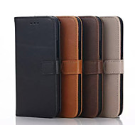Full Body Wallet / with Stand Solid Color PU Leather Hard Case Cover For HTC HTC M8 / HTC M9 / HTC M10 / Other