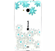 For Nokia Case Transparent / Embossed Case Back Cover Case Flower Soft TPU Nokia Nokia Lumia 535 / Nokia Lumia 435