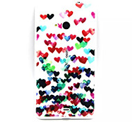 For Nokia Case Transparent / Embossed Case Back Cover Case Heart Soft TPU Nokia Nokia Lumia 535 / Nokia Lumia 435