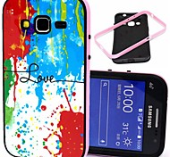 Love Words with Splash-ink Pattern Plastic/TPU 2 in 1 Design Back Cover Case for Samsung Galaxy Core Prime G360