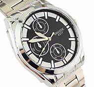 Couple's Faashion Style Silver Alloy Quartz Wrist Watch