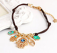 Vintage Fishtion Eye Fatima's palm Woven Bracelet