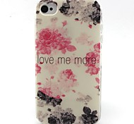 modello di fiori materiale TPU soft phone per iphone 4 / 4s