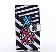 Black and White Pineapple Pattern PU Leather Full Body Case with Stand for Multiple LG G3/G3MINI/L90