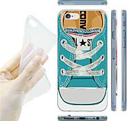 patrón de zapatillas de deporte azul TPU vuelta suave para el iphone 6 / 6s