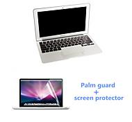 ultrafino guardia palma plata y protector de pantalla HD con el paquete para MacBook Pro de 15,4 pulgadas