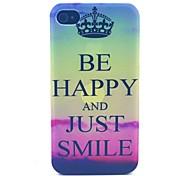 felice smilingpattern cassa del telefono materiale del pc per il iphone 4 / 4s