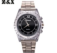 Men's Generous Fashion Contracted Three Eyes Six Stitches Quartz Analog Stainless Steel Wrist Watch(Assorted Colors)