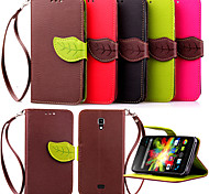 High Quality Wallet Card Holder PU Leather Flip Case Cover for Wiko BLOOM (Assorted Colors)