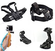 5-em-1 kit de acessórios para câmeras de esportes para GoPro Hero 4/3/3 + / sj4000 / sj5000 / sjcam / xiaoyi