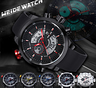 WEIDE Men Fashion Analog Digital Sport Watch Rubber Strap Stopwatch/Alarm Backlight/Waterproof Cool Watch Unique Watch