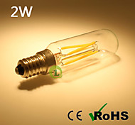 All Glass T25 LED Filament Bulb 2W Warm White Cool White with Clear Glass Top E14 LED Tube Bulb