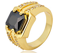 Size 10 High Quality Men Black Sapphire Rings 10KT Yellow Gold Filled Ring