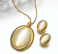 Bijoux Colliers décoratifs / Boucles d'oreille Mariage / Soirée / Quotidien / Décontracté Plaqué argent 1set Femme Cadeaux de mariage