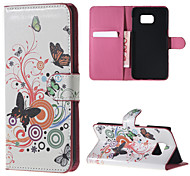 Butterfly Pattern PU Leather Hard Case with Stand for Samsung Galaxy Note 5/ Note 5 Edge/ Note 4 / Note 3/ Note 2