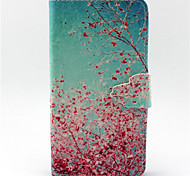 Almond Tree Pattern PU Leather Phone Case For G355/G357/G360/G386F/G850F/G3500/G5308