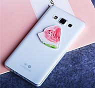 Watermelon Fruits Pattern Ultra Thin Transparent TPU Soft Cover Case for Samsung Galaxy A3/A5/A7/A8