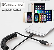 Apple MFi Certified Lightning to USB Data Sync and Charger Spring Cable for iphone 6/5/iPad/iPod(150cm)