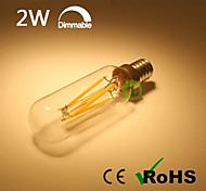 All Glass Dimmable T25 LED Filament Bulb 2W Warm White Cool White with Clear Glass Top E14 LED Tube Bulb