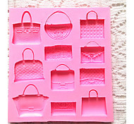 Bags Shaped Fondant Cake Mold Chocolate Sugarcraft  Cutter Silicone Baking Tools DIY
