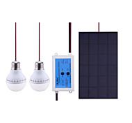 3.3watt ha condotto il pannello solare 2x2.4w freddo 2x240lm bianco condotto la lampadina 6-8h l'orario di lavoro per i viaggi / emergenza