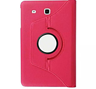 360 roterende litchi huid lederen case cover voor Samsung Galaxy Tab 9.6 e T560 / t561 tablet beschermhoes (aorted kleur)