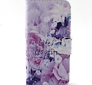 Beautiful Life Pattern PU Leather Full Body Case with Card Slot and Stand for iPhone 5C