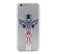Cute Giraffe Pattern Transparent PC Hard Back Cover Case for iPhone 6