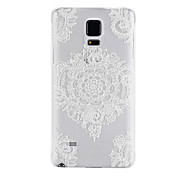White Pattern PC Material Phone Case for Samsung Galaxy Note 4