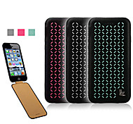 Ultra-thin Jisoncase Open Up and Down the Laser Embroidered Leather Cases for Apple iPhone 6 (Assorted Colors)