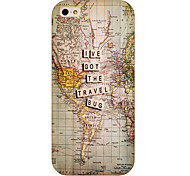The Map Pattern Phone Back Case Cover for iPhone5C