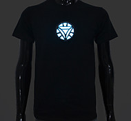 Akku im Lieferumfang enthalten beleuchten oben geführte el T-Shirt Iron Man 2 einstellbarem Sound aktiviert und mehreren Blitzfunktionen