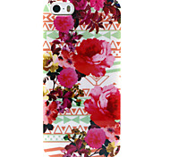 Fashion Design COCO FUN® Big Red Flower Pattern Soft TPU IMD Back Case Cover for iPhone 5/5S