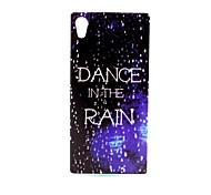coco de la marche dans le motif de pluie TPU doux IMD de couverture de cas pour Sony m4