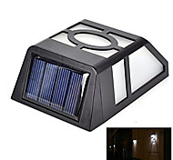 Outdoor 2 LED Solar Powered Light Sensor Fence Wall Light Garden Yard Path Lamp