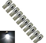 Luces Decorativas T10 1.5W 1 LED de Alta Potencia 90lm LM Blanco Fresco / Azul DC 12 V 10 piezas
