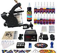 Solong Tattoo Complete Tattoo Kit 1 Pro Machine Guns 14 Inks Power Supply Needle Grips Tips