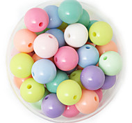 Beadia 100g(Approx 60Pcs)  Fashion 12mm Round Acrylic Beads Mixed Spring Color Plastic Loose Beads DIY Accessories