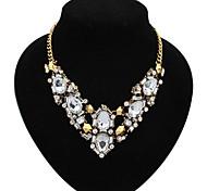 Cusa Vintage Solid Color Diamand Necklace