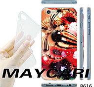MAYCARI®Abstract Painting Pattern Transparent TPU Soft Back Case for iPhone 6