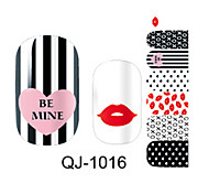 Fashion Lipstick Nail Sticker