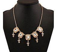 Alloy Gold Plated  With Cubic Zirconia Fashion Necklaces
