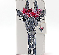 Giraffe Pattern with Card Bag Full Body Case for Sony Xperia Z3 Mini