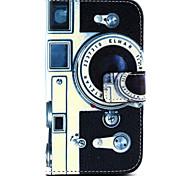 Kamera-Muster PU-Leder Material Karte Ganzkörper für Samsung-Galaxie grand prime G530 / galaxy Kern prime G360