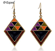 D Exceed European and American Style Personality Colorful Splice with Ship Beads Big Earring for Women