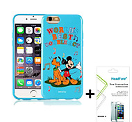 "Disney Singing Mickey Cover Case for Iphone6/6S 4.7"" Free with Headfore Screen Protector for Iphone6/6S 4.7""-Blue"