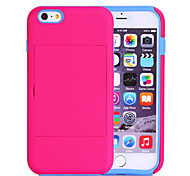 Sports and Outdoors Shockproof TPU+PC Credit Card Holder Wallet Case Cover for iPhone 6 Plus (Assorted Color)