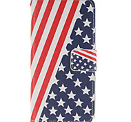 American Flag Design PU Leather Full Body Protective Case with Stand Wiko Wax